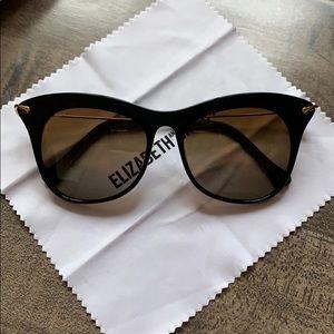 Elizabeth and James Fairfax Black Sunglasses